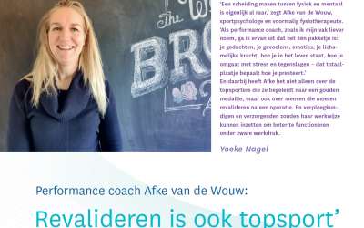 'Revalideren is ook topsport'
