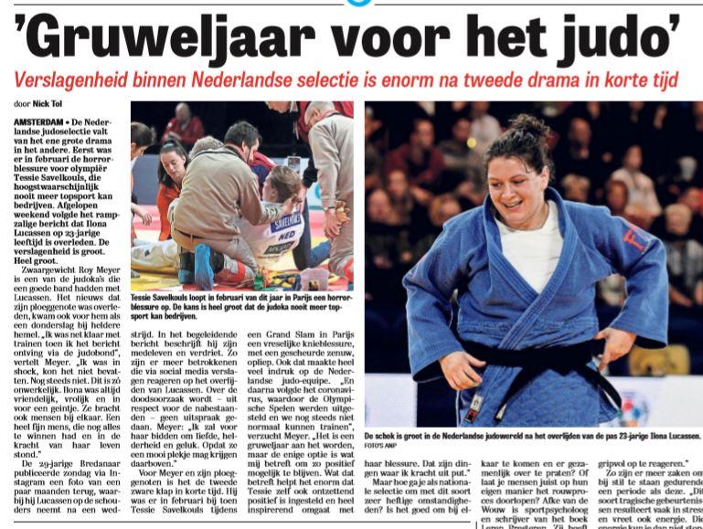 Gruweljaar voor het judo