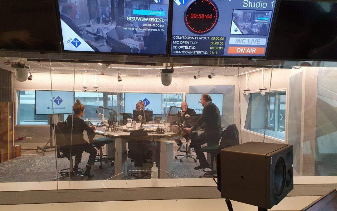 Afke was te gast op NPO Radio 1